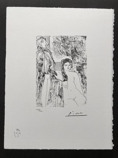 Pablo Picasso, 'Femme au voile, modèle assis et tête de Rembrandt (Suite Vollard Planche XXXV)', 1973, ByNewArt