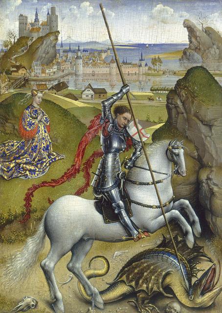 Rogier van der Weyden, 'Saint George and the Dragon', ca. 1432/1435, National Gallery of Art, Washington, D.C.