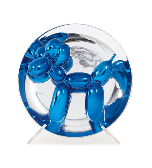 Jeff Koons, 'Balloon Dog (Blue)', 2002, Sculpture, Porcelain multiple painted in chrome, contained in the original foam-lined cardboard box with printed artist's name and original plastic stand., Phillips