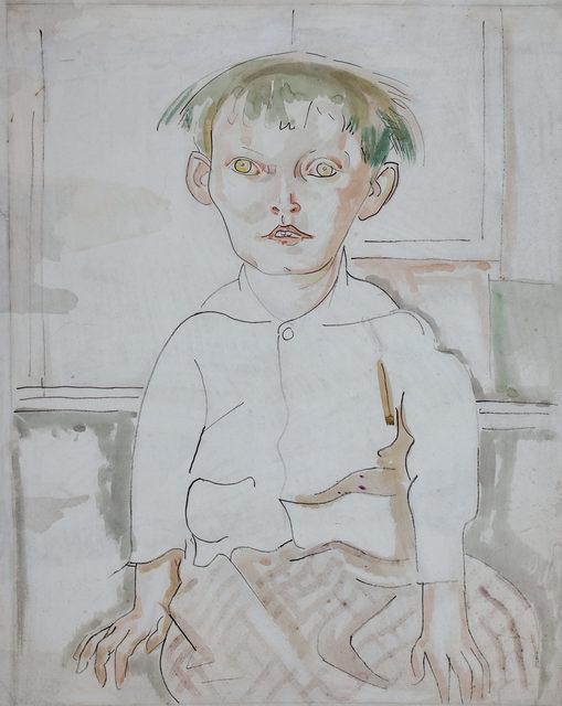 , 'Seated Child, Tess,' ca. 1915, WOLFS