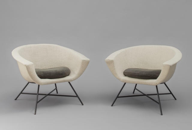 Geneviève Dangles and Christian Defrance, 'Pair of armchairs 58 - Corbeille', 1958, Galerie Pascal Cuisinier