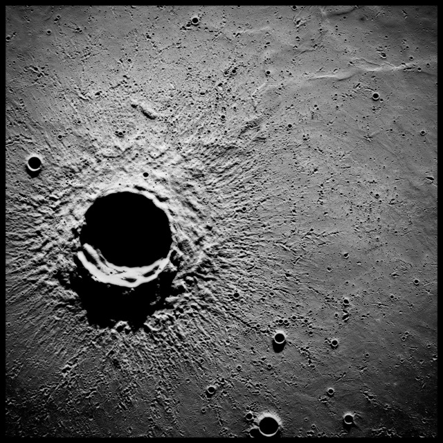 , '20-Mile-Wide Crater Timocharis, 62 Miles Altitude; Photographed by Alfred Worden, Apollo 15, July 26-August 7, 1971,' 1971, Vision Neil Folberg Gallery