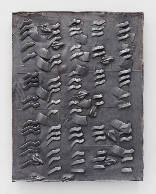 , 'Clay Pressings #2 (swimmers' arms are oars, swimmers' arms are oars, your palms are oval),' 2016, On Stellar Rays