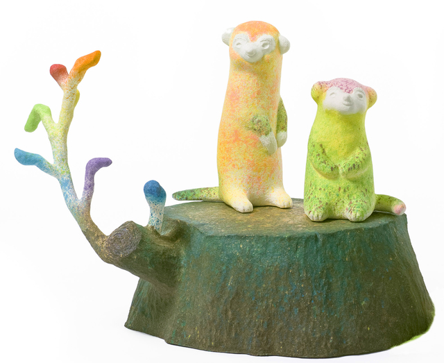 , 'Meerkats in Rainbow Rain Village,' 2015-2016, Liang Gallery