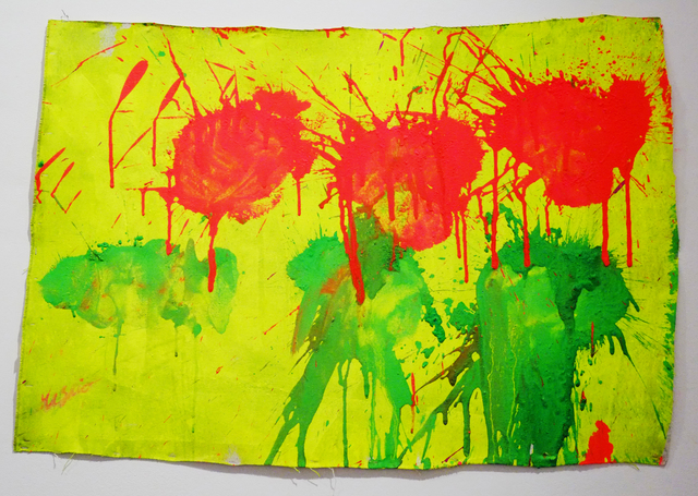 , 'Green & Red on Yellow,' 2010, Deborah Colton Gallery
