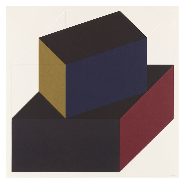 Sol LeWitt, 'Forms Derived from a Cube (Colors Superimposed) 6', 1991, Alan Cristea Gallery