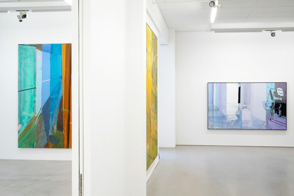 Installation view of »Jörg Ernert – Lichtprobe«, February 8 – May 12, 2019, G2 Kunsthalle Leipzig, photo: Dotgain.info © the artist & G2 Kunsthalle Leipzig