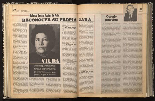 , 'VIUDA - REVISTA CAUSE,' 1985, ANINAT ISABEL GALERIA