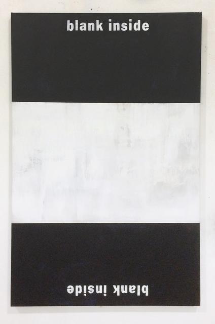 Dustin Pevey, 'Blank Inside ', 2014, Painting, Acrylic on canvas, BILL BRADY GALLERY