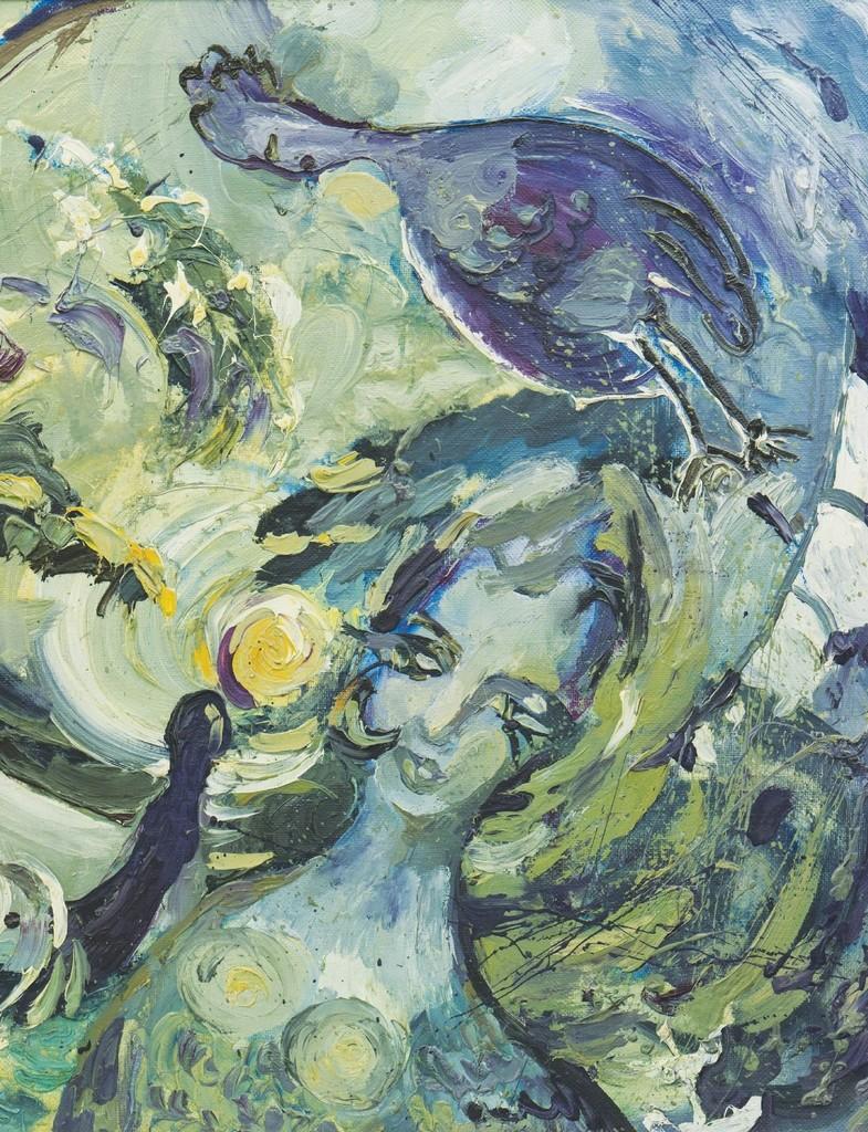 """Sirens call"" 1992, oil on canvas 65,5x90 cm"