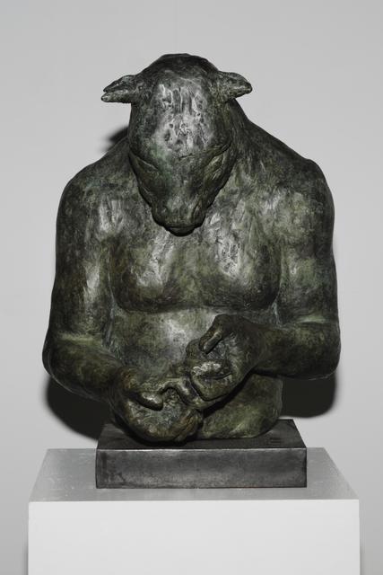 , 'Large Minotaur Bust (with bird),' , Sturgis Art Gallery