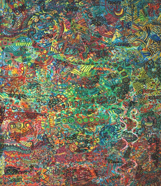 , 'The sky is falling, the sky is falling,' 1998, Pacita Abad Art Estate