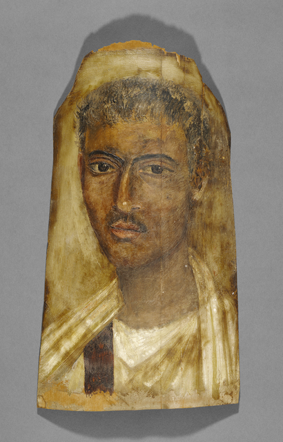 'Mummy Portrait of a Man', 100 -125, J. Paul Getty Museum