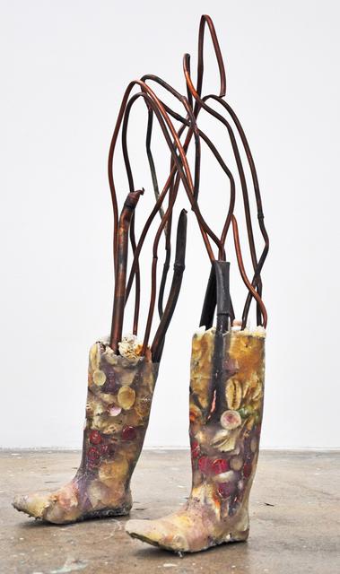 Christy Gast, 'Okeechobee Legs (Envelope)', 2011, Sculpture, Resin, shell, aluminum, pigment, Nina Johnson