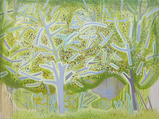 , 'Spring Trees,' 2018, Freight + Volume