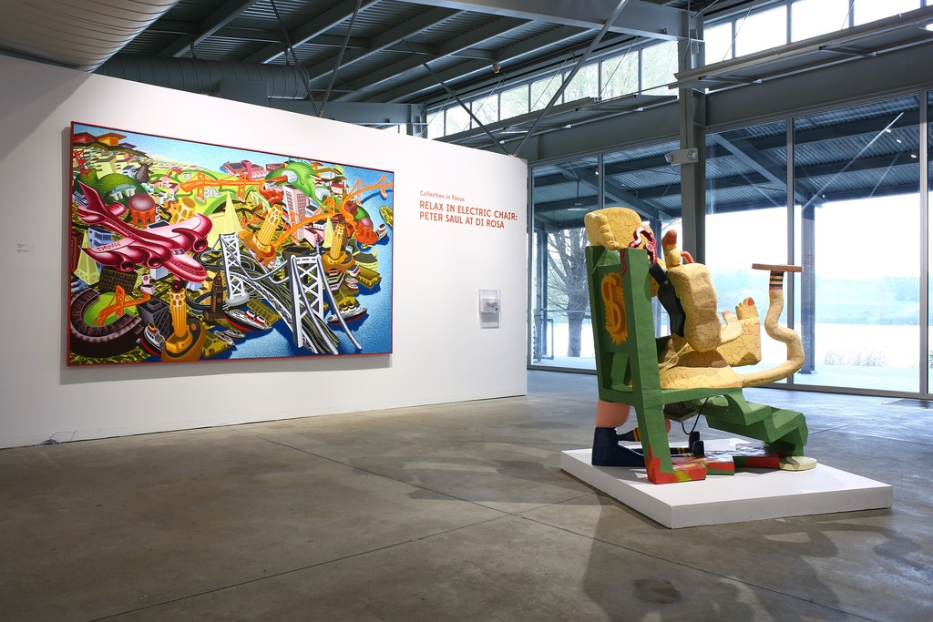 Relax in Electric Chair: Peter Saul at di Rosa installation shot, 2015. Courtesy of di Rosa collection, Napa. Photo: Wilfred J. Jones