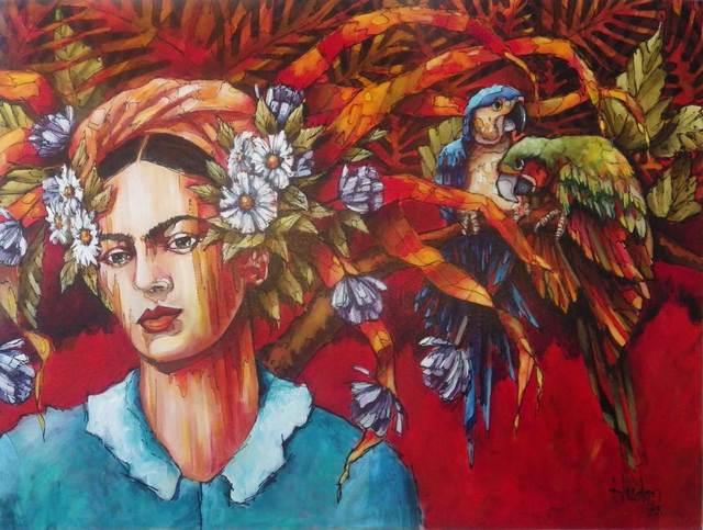 Jean Jacques Hudon, 'Frida e les Perroquets', Galleria Dante