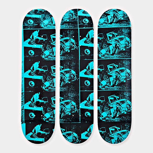 , 'Set of 3 Limited Edition Disaster Series Skate boards decks  - New with hanging hinges ,' 2015, Alpha 137 Gallery