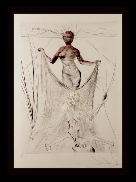 Salvador Dalí, ' La Venus Aux Fourrures Woman Holding Veil ', 1968, Print, Etching, Fine Art Acquisitions Dali