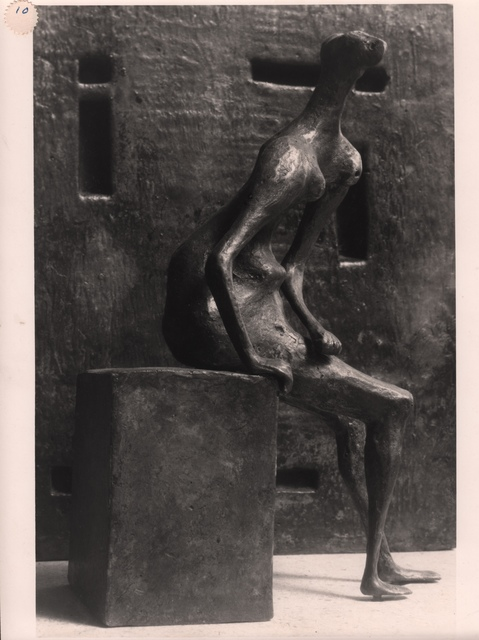 , 'Girl Seated Against Square Wall,' 1957-1958, Grob Gallery