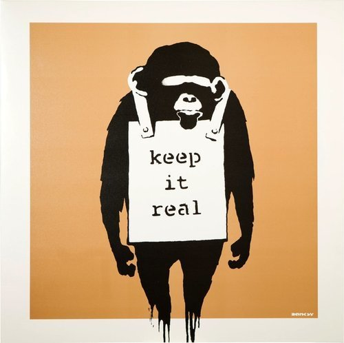 Banksy, 'Keep It Real (Gold)', 2008, Curator Style