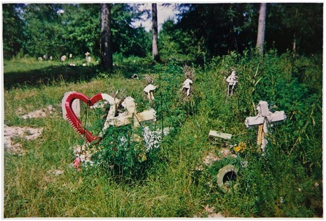 William Christenberry, 'Grave with Crimson Wreath, Near Greensboro, Alabama', 1979, Photography, Dye transfer print, Jackson Fine Art