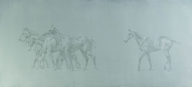 , '17. Study for 'Walking Line of Polo Ponies',' 2016, Sladmore Contemporary