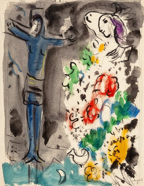 Marc Chagall, 'Le Chris bleu aux fleurs', circa 1950, Heritage Auctions