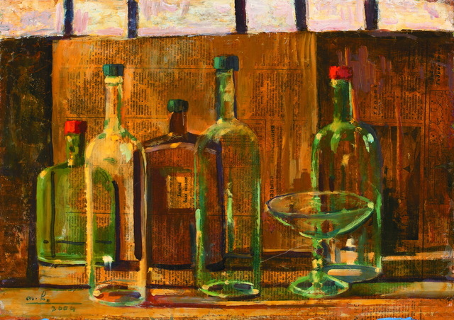 Otar Chkhartishvili, 'Still-Life with Bottles', 2004, Baia Gallery