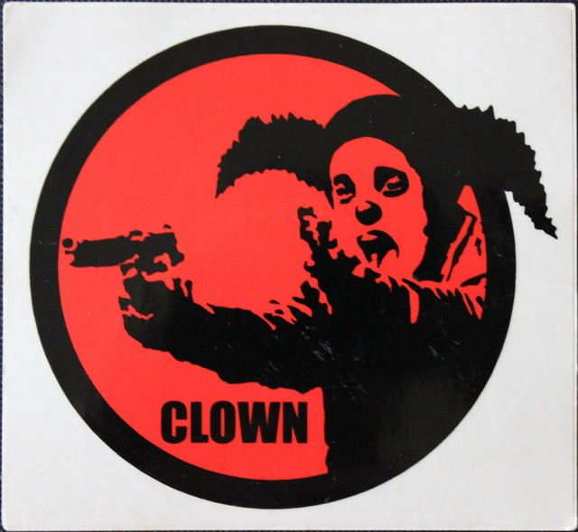 Banksy, 'Clown Skateboards Sticker', ca. 2001, EHC Fine Art Gallery Auction