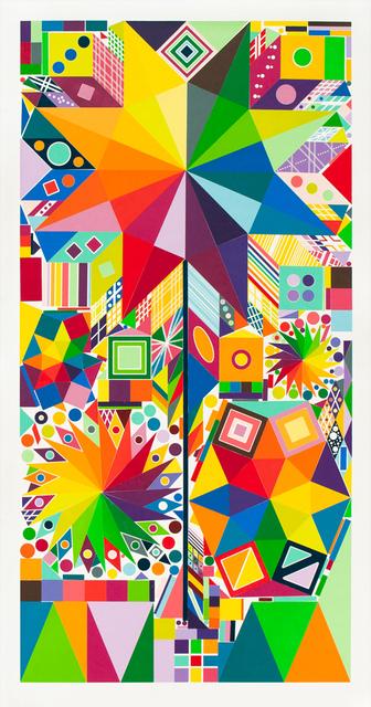 Polly Apfelbaum, 'Atomic Pinwheel 1', 2018, Durham Press, Inc.