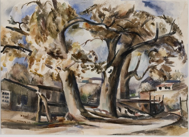 Jozef Bakos, 'Cottonwoods Along Santa Fe River, Behind Compound', 1932, Gerald Peters Gallery