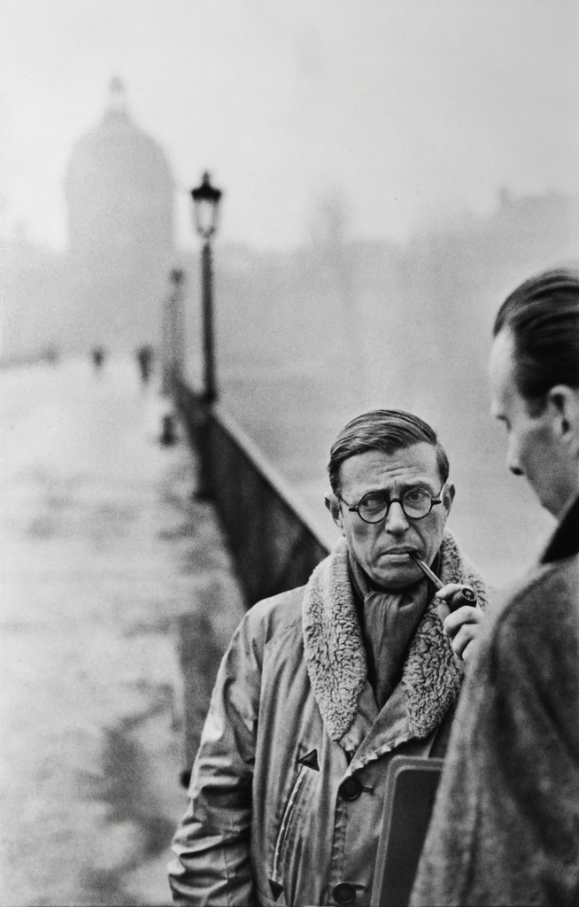 Henri Cartier-Bresson, 'Jean-Paul Sartre, Le Pont des Arts, Paris,' 1946, Beetles + Huxley