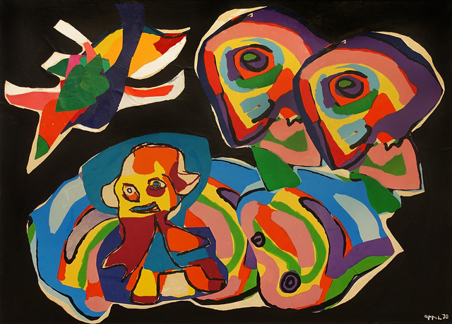 , 'Personnages et Oiseaux II,' 1970, Hollis Taggart