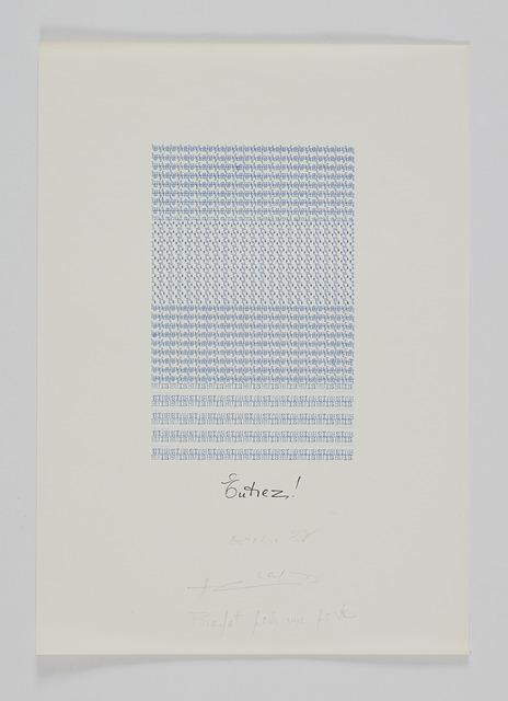 , 'Entrez! Profet pour une porte,' 1982, Supportico Lopez
