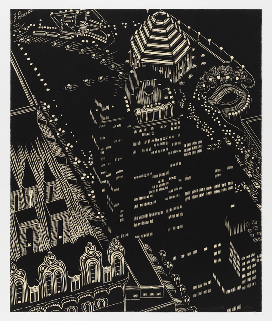 Yvonne Jacquette, 'Mixed Heights', 2002, Print, Woodcut, Mary Ryan Gallery, Inc