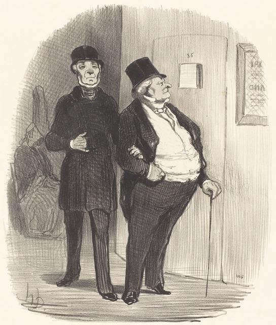 Honoré Daumier, 'Un Jour de représentation a bénéfice...', 1852, National Gallery of Art, Washington, D.C.