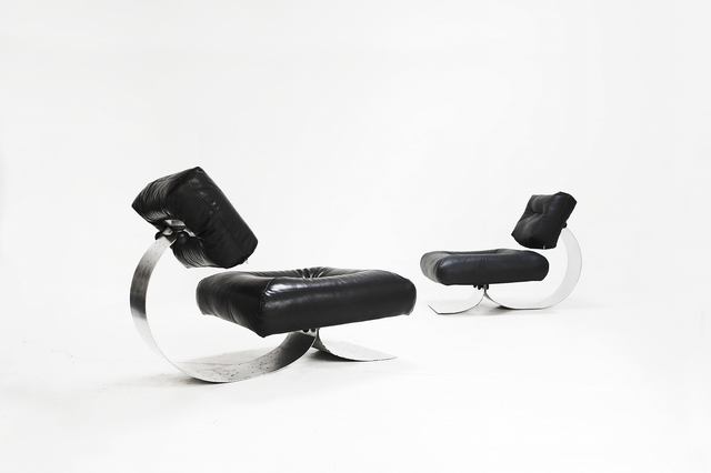", 'Pair of armchairs model ""Alta"",' 1972, Side Gallery"