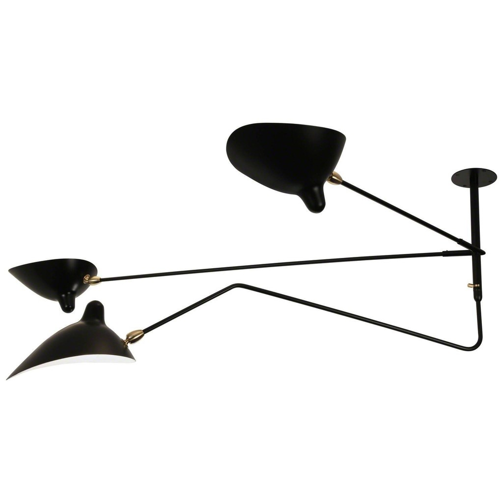 Serge mouille serge mouille three arms one rotating ceiling serge mouille serge mouille three arms one rotating ceiling sconce lamp arubaitofo Choice Image