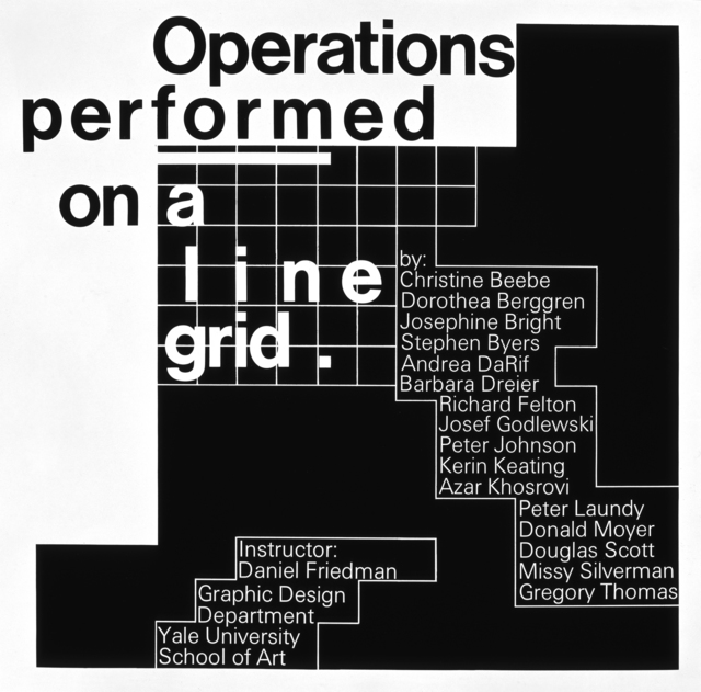 , 'Operations Performed on a Line Grid,' 1973, AIGA