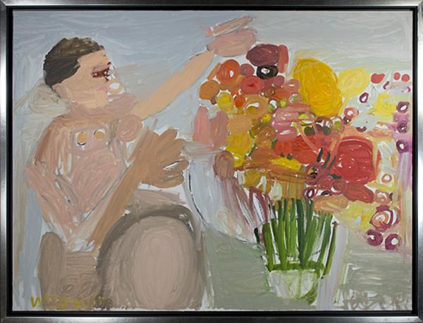 """, 'Fleurs Pour Mademoiselle """"Flowers for Mademoiselle"""",' 2016, David Barnett Gallery"""