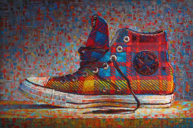 , 'Converse Hi-Top Plaid,' 2016, George Billis Gallery