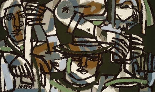 America Martin, 'Horns & Shadows', 2013, Wally Workman Gallery