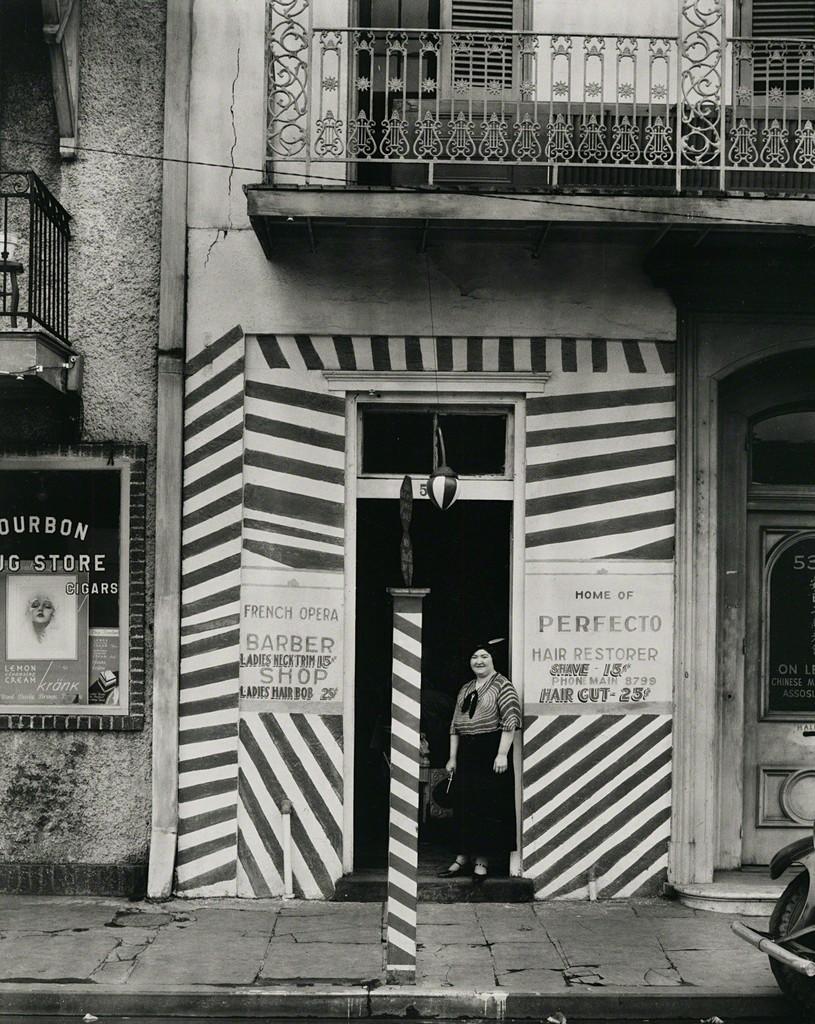 Sidewalk and Shopfront, New Orleans
