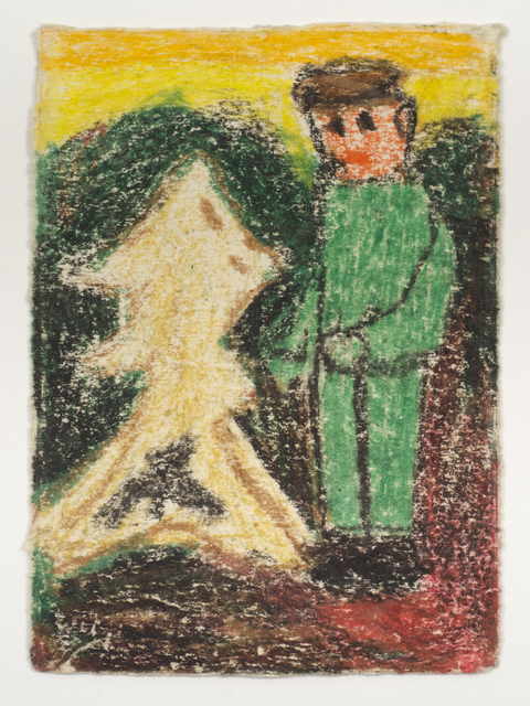 , 'Untitled (Boy in green suit with abstract figure),' n.d., Fleisher/Ollman