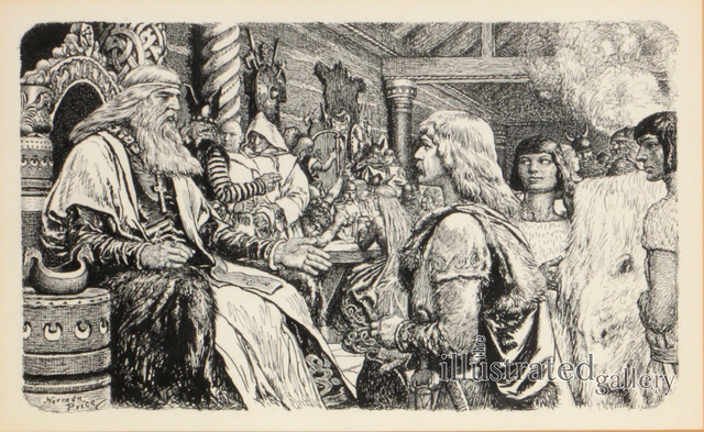 Norman M. Price, 'Leif Erikson The Lucky, Book Illustration', 1939, The Illustrated Gallery