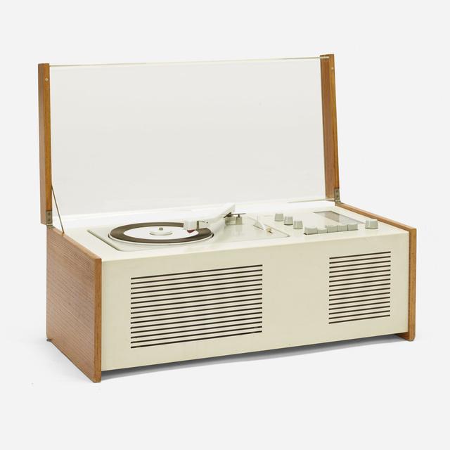 Dieter Rams, 'SK 5 Phonosuper radiogram with rare external Snow White speaker', 1958, Wright