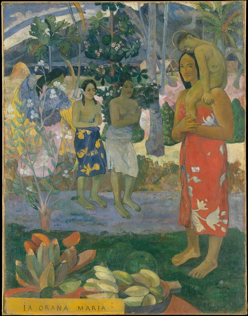 Paul Gauguin, 'Ia Orana Maria (Hail Mary)', 1891, The Metropolitan Museum of Art