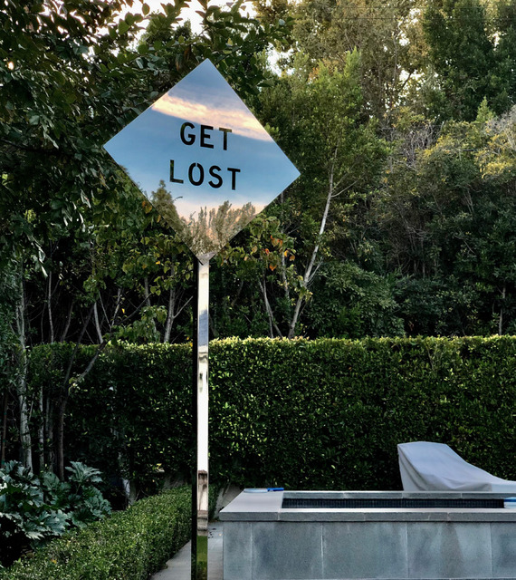 Olivia Steele, 'Get Lost', 2018, Sculpture, Mirror grade polished stainless steel road sign (Pole not included), MAIA Contemporary