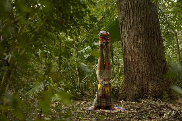 , 'Head Standing Totem,' 2014, C24 Gallery
